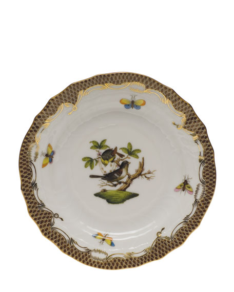 Herend Rothchilds Bird Brown Bread & Butter Plate