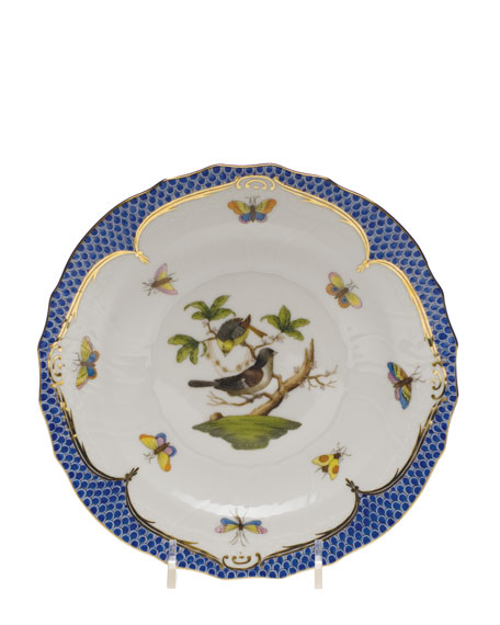 Herend Rothchilds Bird Blue Salad Plate