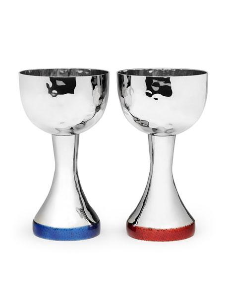 Mary Jurek Symphony Cobalt Blue Enamel Kiddish Cup