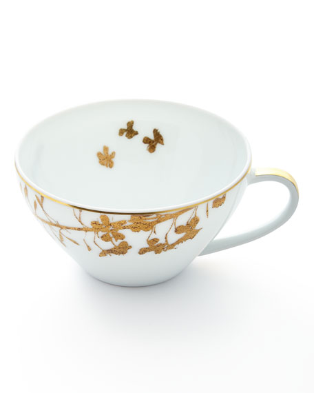 Bernardaud Vegetal Gold Teacup and Matching Items