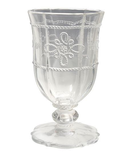 Juliska Colette Clear Footed Goblet