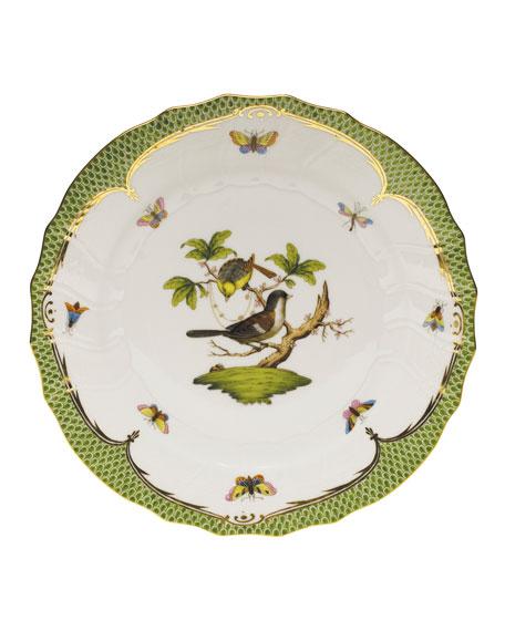 Rothschild Bird Green Border Dinner Plate #1