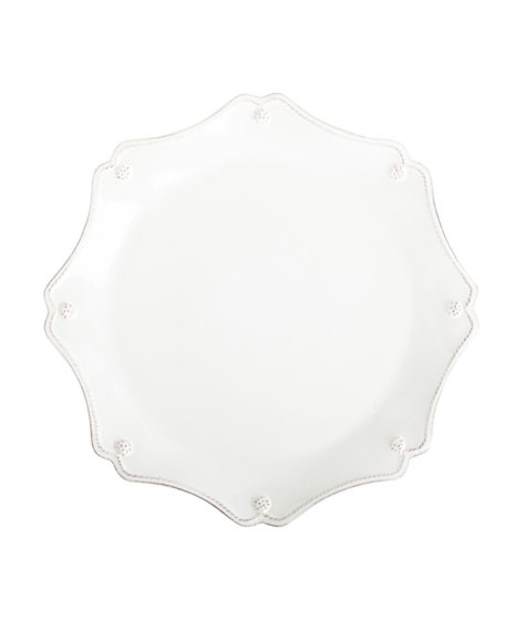 Berry & Thread White Scallop Charger Plate