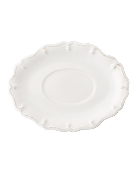 Juliska White Berry & Thread Sauce Boat Stand