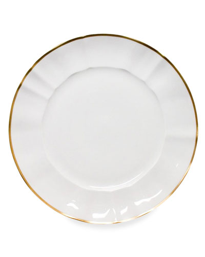 White Charger Plate with Gold Border