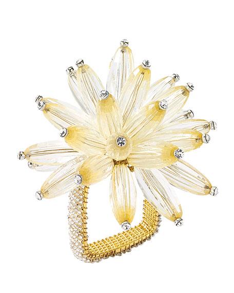 Champagne Constellation Napkin Ring