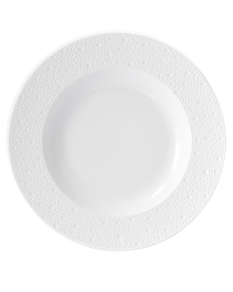 Bernardaud Ecume White Rim Soup Bowl