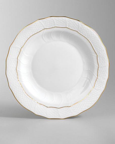Golden Edge Dessert Plate