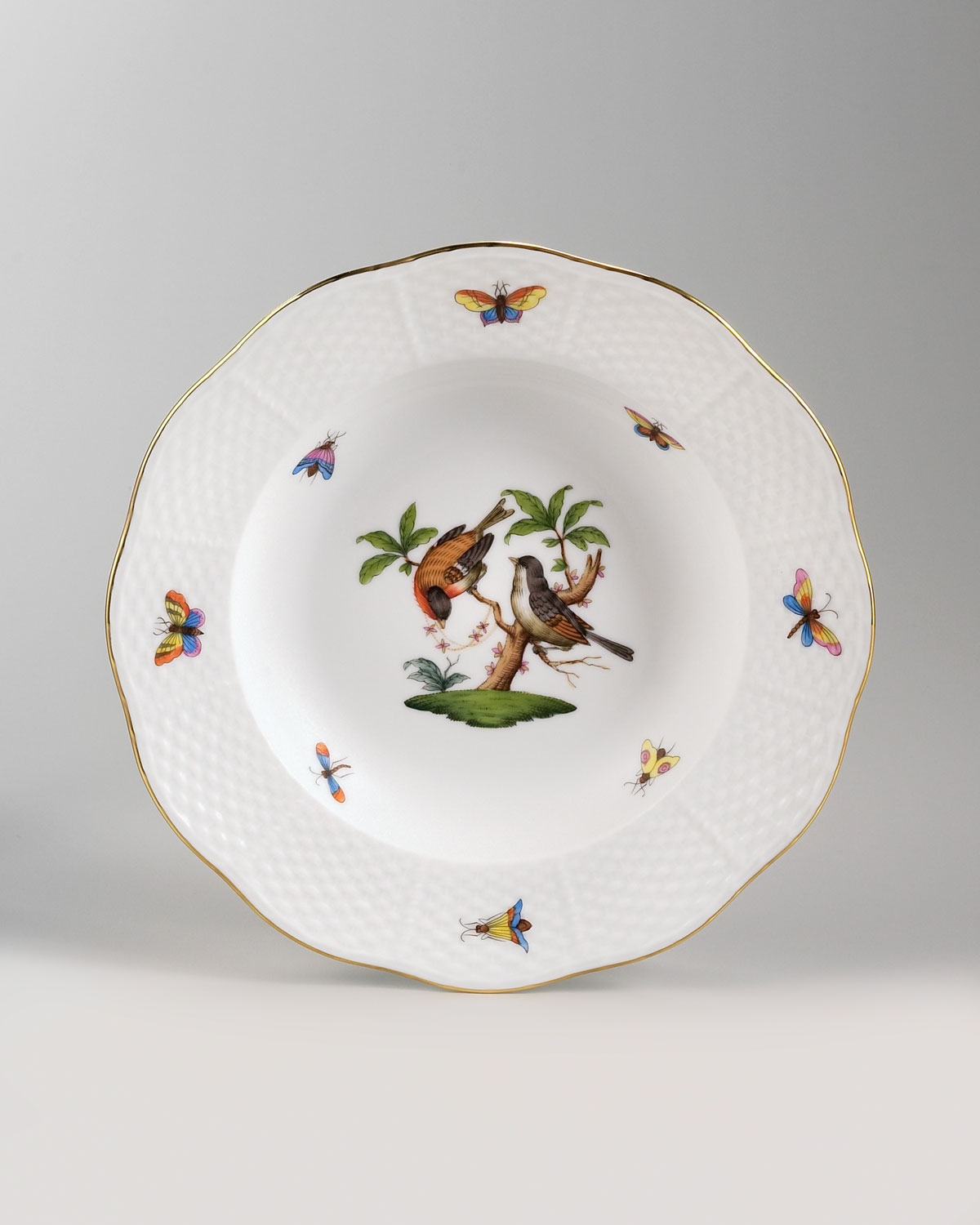 Herend Rothschild Bird Soup Plate #12