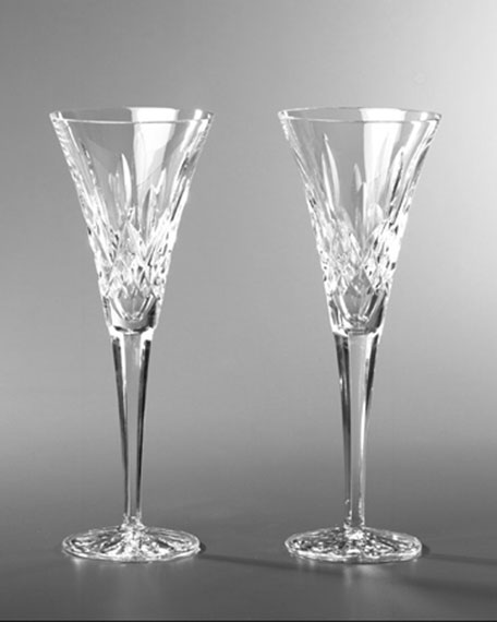 Waterford Crystal Lismore Toasting Flutes, Set of Two
