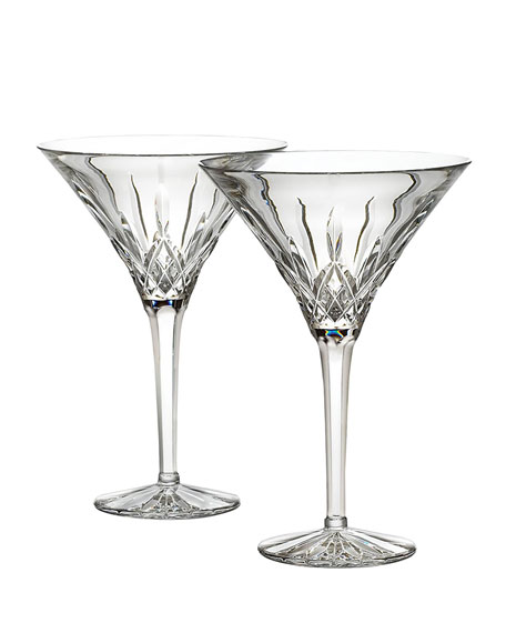 Waterford Crystal Lismore Martinis, Set of Two