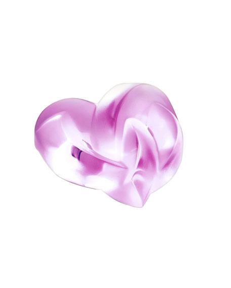 Pink Heart Paperweight