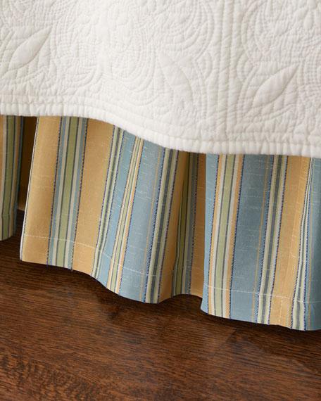 Twin Lutece Cypress Striped Dust Skirt
