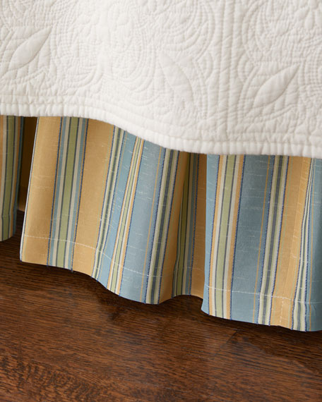 King Lutece Cypress Striped Dust Skirt