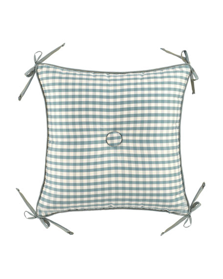 """Legacy Lutece Cypress Checked Pillow, 18""""Sq."""