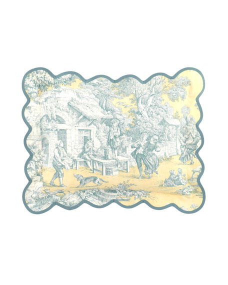 "Lutece Cypress Toile Pillow, 12"" x 16"""