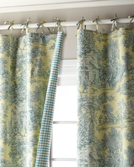 """Each 96""""L Lutece Cypress Reversible Bed Curtain"""