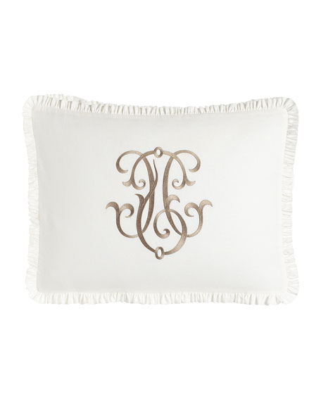 Legacy Each Essex King Embroidered White Box Sham