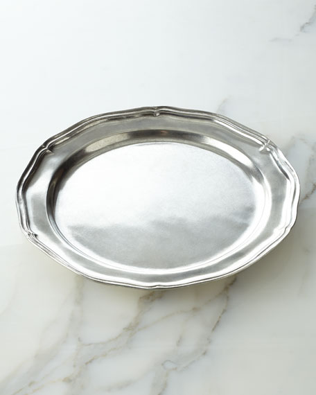 Pewter Charger Plate