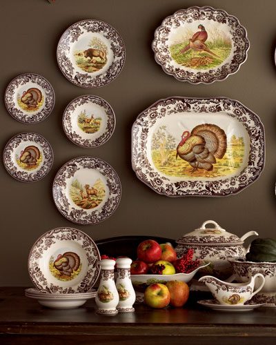 Turkey Dinner Plates  Set of 4