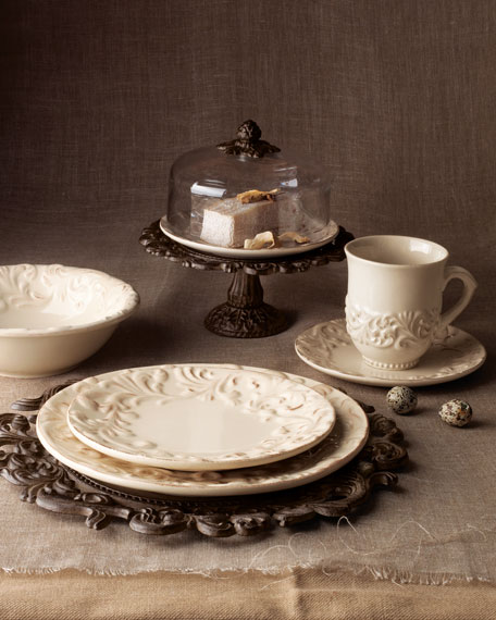 G G Collection Four Ceramic Salad/Dessert Plates