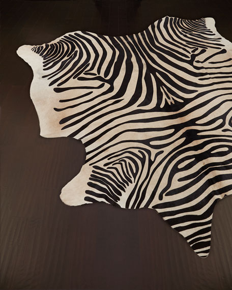 """Zebra"" Hide Rug"