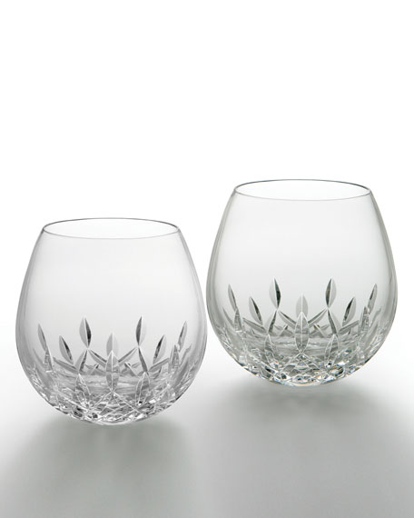 Waterford crystal lismore nouveau stemless wine glasses - Waterford colored wine glasses ...