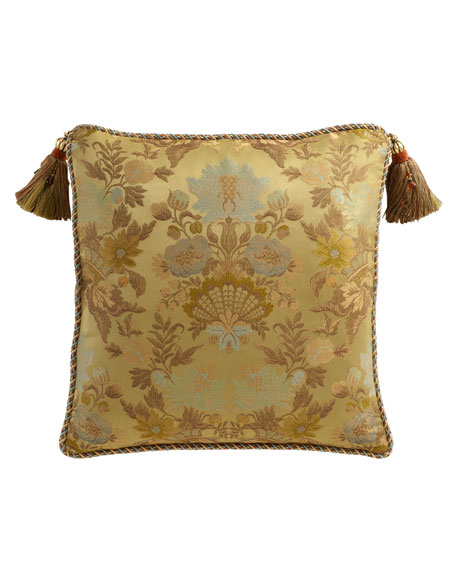 European Petit Trianon Floral Sham with Tassels