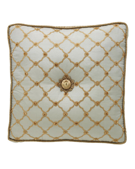 "Petit Trianon Tufted Pillow, 18""Sq."