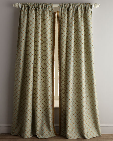 "Each 96""L Petit Trianon Trellis Curtain"