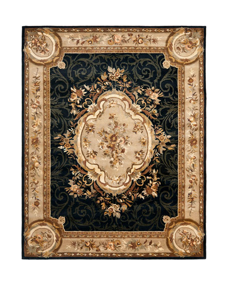 "Aubusson Night Runner, 2'6"" x 8"""