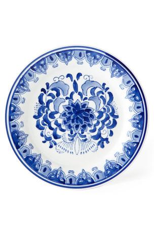 Neiman Marcus Set of 12 Assorted Blue & White Dessert Plates