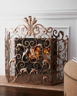 Dr. Livingston Acanthus Fireplace Screen