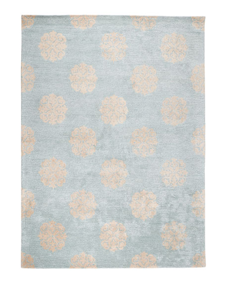 "Floating Medallions Rug, 7'6"" x 9'6"""