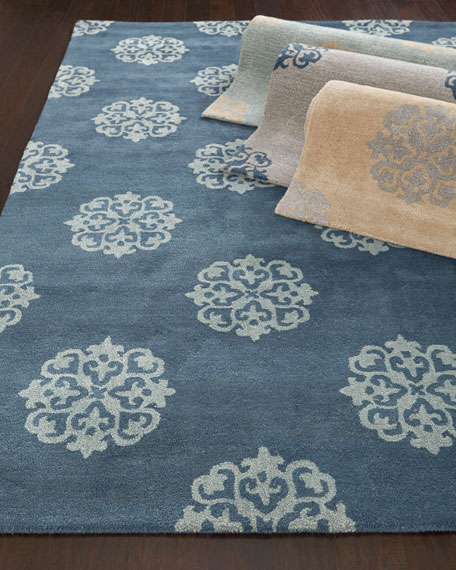 "Floating Medallions Runner, 2' 6"" x 10'"
