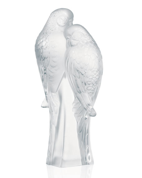 Lalique Two Parakeets Figure
