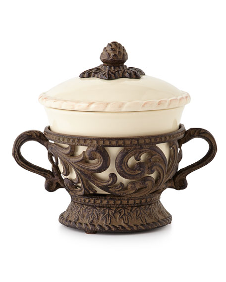 G G Collection Covered Soup Bowl