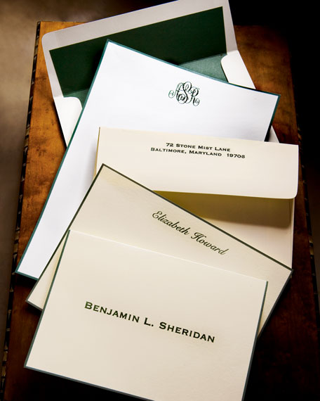 25 Sheets/Personalized Envelopes