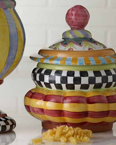 MacKenzie-Childs Piccadilly Cookie Jar