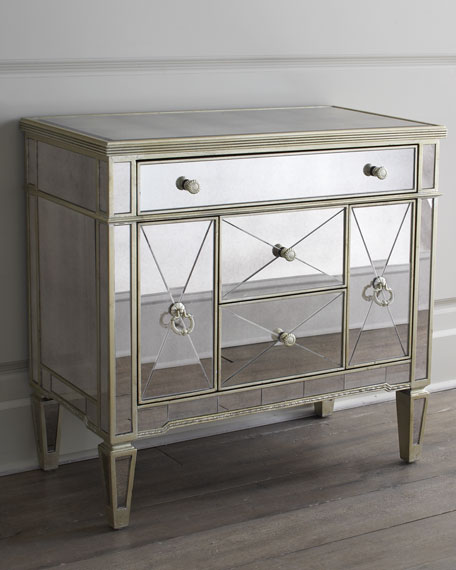 Image 2 of 3: Amelie Small Mirrored Chest