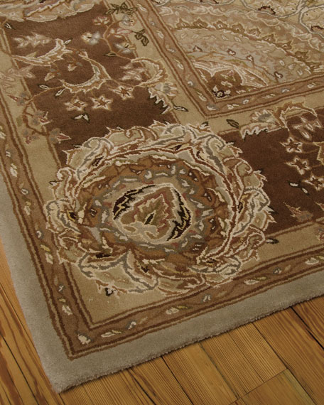 "Medallion Garden Runner, 2'6"" x 12'"
