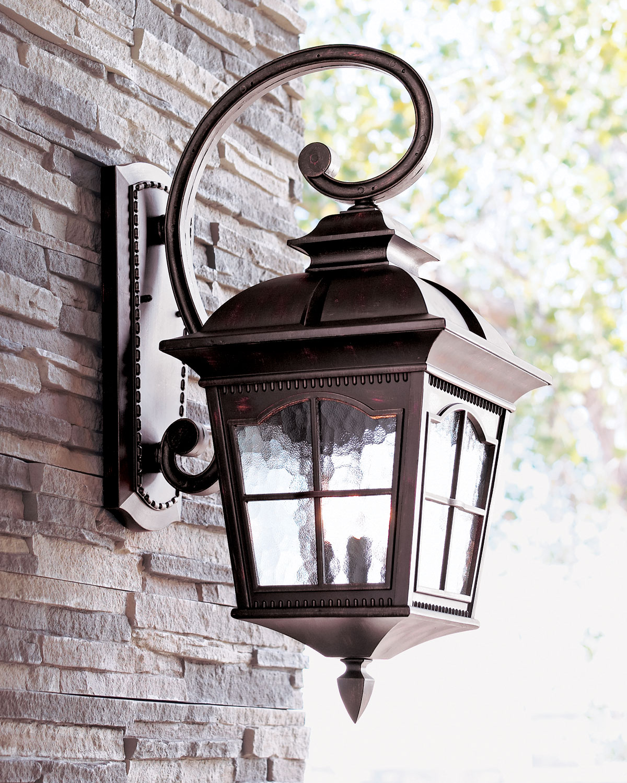 Colonial Three Light Wall Lantern