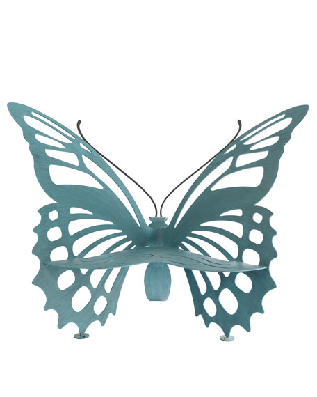 Large Butterfly Bench