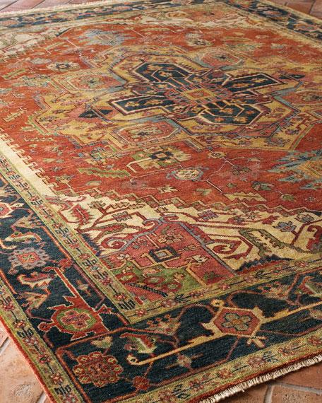 Washed Serapi Rug, 6' x 9'