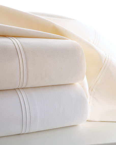 Matouk Two Marcus Collection Standard 600 Thread Count Solid Percale Pillowcases