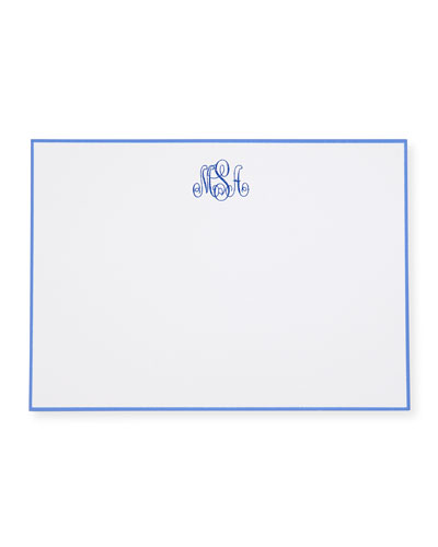 25 Hand-Bordered Folded Notes with Plain Envelopes