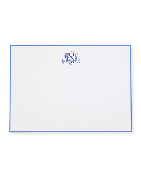 25 Hand-Bordered Correspondence Cards with Personalized Envelopes