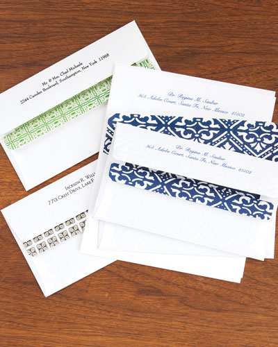 100 Personalized Self-Seal Envelopes