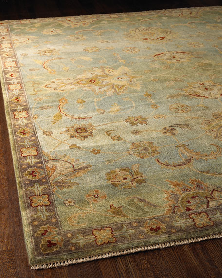 Kalaty Rug Corporation Blue Small Border Rug