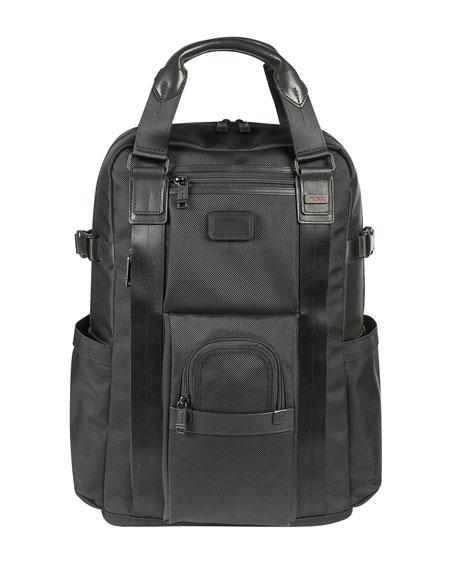 """""""Alpha Bravo"""" Black Backpack"""